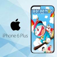 Casing Hardcase HP iPhone 6 Plus Doraemon Wallpaper X4292