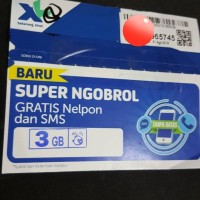 Perdana data XL kuota 3gb 24jam semua jaringan regular 3 gb