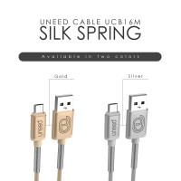 Jual UNEED Silk Spring Kabel Micro USB Data Fast Charging 2.4A - UCB16M Murah