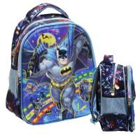 Tas Anak Ransel TK Import Batman 5D Timbul Hologram Dua Kantung