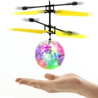 mainan remote control tangan flying ball LED RC drone helicopter