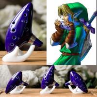 Alat Musik Tiup Flute Replika Zelda Ocarina Bahan Keram BARU