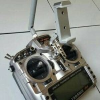 FPV CNC Stand Monitor Phone Holder Mount Bracket Fr Sky Taranis Futaba