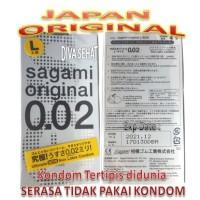 Sagami Original LARGE SIZE - SANGAT TIPIS 0.02 isi 4 pcs - NON LATEX