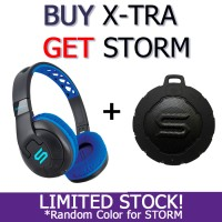 Headphone *Buy 1 Get 1* SOUL X-TRA Wireless Blue Bluetooth Speaker