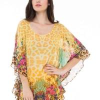 blouse print with belt devain kapoor
