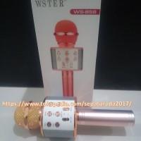 Jual Microphone Wireless Portable WS-858 Home Karaoke Handheld Bluetooth Murah