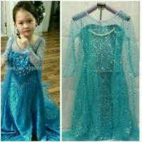 Baju Pesta Dress Baju Frozen Elsa Premium Glitter Full Payet