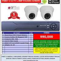 Paket 2 Kamera CCTV AHD 1.3Megapixel Lengkap Murah Camera HD Online 3G