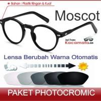 Jual Kacamata Moscot + Lensa Photocromic Minus/Baca Frame Pria/Cewek Bulat Murah
