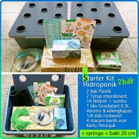 Jual Starterkit Hidroponik Wick 2 Bak + Airator Murah