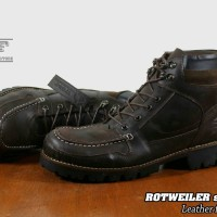 SEPATU  BOOTS SAFETY KULIT ORIGINAL  WOLF FOOTWEAR  - ROTWEILER BROWN