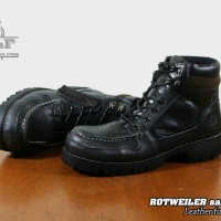 SEPATU  BOOTS SAFETY KULIT ORIGINAL  WOLF FOOTWEAR  - ROTWEILER BLACK