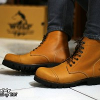SEPATU  BOOTS SAFETY KULIT ORIGINAL  WOLF FOOTWEAR  - PITBUL TAN