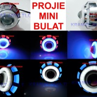 PROJECTOR PROJIE LED SUPER MINI BULAT 2 ANGEL EYES DAN DEMON EYES