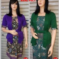 Kebaya Lengan Pendek kutubaru setelan rok lilit batik model terbaru