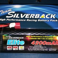 Silverback Elite Series 4200MAH 40C, 7.4V Hard Tube Case LiPo