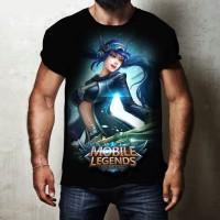 distro terbaru t shirt kaos 3d permainan perang mobile legends hitam