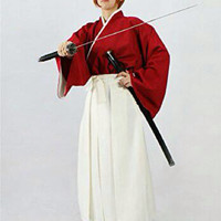 Hallowen Baju Pesta COSTUME COSPLAY KENSHIN HIMURA SAMURAI X