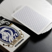 Kartu Remi Sulap White Lions Series A Blue Playing Cards David Blaine
