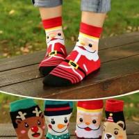 Jual kaos kaki anak natal christmas laki perempuan 6 - 12 tahun Murah