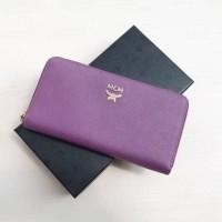 Dompet MCM Original / MCM Zip Wallet Purple