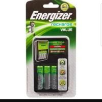 Charger + Baterai Energizer CHVCM4 / Recharge value AA 1300mAh battery