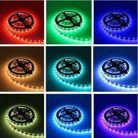 Jual LAMPU FLEXIBLE LED STRIP RGB 5050 + REMOTE 44 TOMBOL Murah