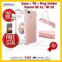 Jual PAKET TG + RING + CASE Xiaomi Mi 5X Mi5X / Mi A1 MiA1 Softcase Casing Murah