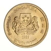Gambar Uang Koin Singapura Jual Uang Logam Singapura 5 Cents Tahun 1989 Jakarta Barat