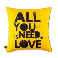 Sarung Bantal All you Need Is Love V2 40X40
