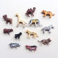 Animal Kingdom figurines mainan binatang plastik miniatur