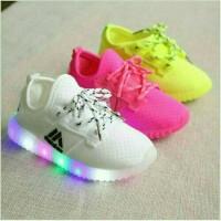 Jual Sz.21-25 Sepatu Anak Adidas Yeezy Lampu LED Murah