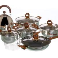 Cookware Set V813 Set Alat Masak VICENZA Panci Teko Strainer GARANSI