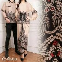Cp sheila 140.000 blouse katun rayon ld 104 rok lilit lebar 1.5M