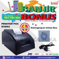 Printer Kasir Thermal QPOS 58MM - USB FREE KERTAS THERMAL 10 ROLL