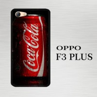 Casing Hardcase HP Oppo F3 Plus Coca Cola Red Can X5747