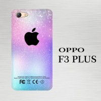 Casing Hardcase HP Oppo F3 Plus Abstract Minimalistic Glitter  X3891