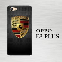 Casing Hardcase HP Oppo F3 Plus Porsche Logo X4848