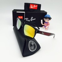 Kacamata Polarized Rayban Ray-Ban Wayfarer Classic Hitam Gold lens