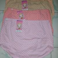 Celana dalam motif  polkadot dengan karet kancing untuk ibu hamil
