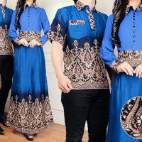 AShanti baju batik couple blue kode01706