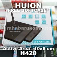 Huion H420 Signature Pad Pen Tablet Desain Bantalan Tanda Tangan Wacom
