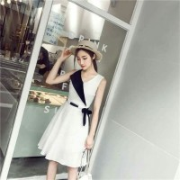 Dress Hanna White Fashion Wanita Kekinian Dress Cewek ABG