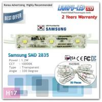 SAMSUNG LED MODULE 3 MATA SMD 2835 ( 100 buah / Pak ) - PUTIH
