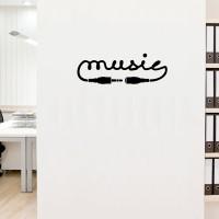 Stiker Music Dinding Kaca Mobil Tembok Rumah Toko Studio Musik Sticker
