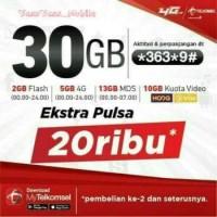 Perdana Telkomsel 30gb