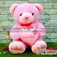Boneka Teddy Bear Love Pink ( BT - 475638 )