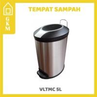 Jual Tempat Sampah Stainless Injak Valetta VLTMC 5L Grosir Kamar Mandi Murah