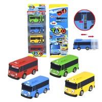 Mainan anak Mobilan Tayo Car 4 Pcs Set (1 set ada 4 warna berbeda)